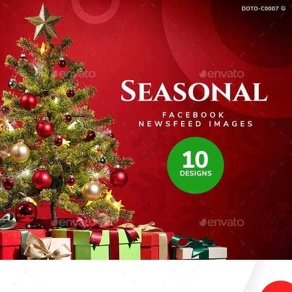 Seasonal Sale Facebook and Instagram Newsfeed Images - 20 Banners