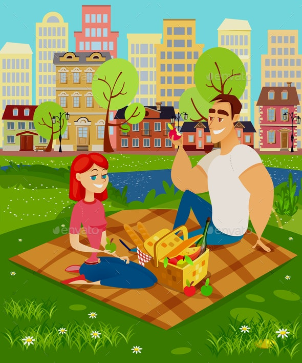 People on a Picnic - Food Objects