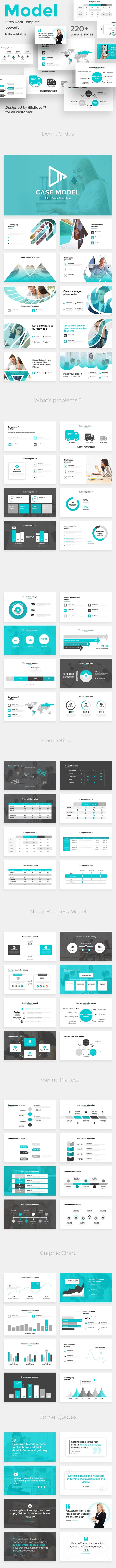 Case Model Pitch Deck Keynote Template - Business Keynote Templates