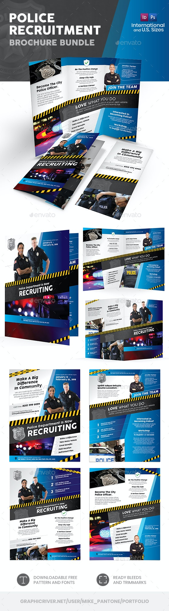 Police Print Bundle - Informational Brochures