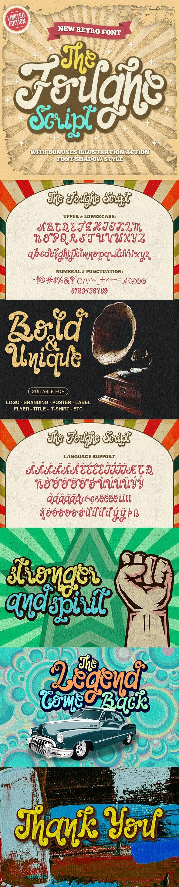 The Foughe Script - Fancy Fonts