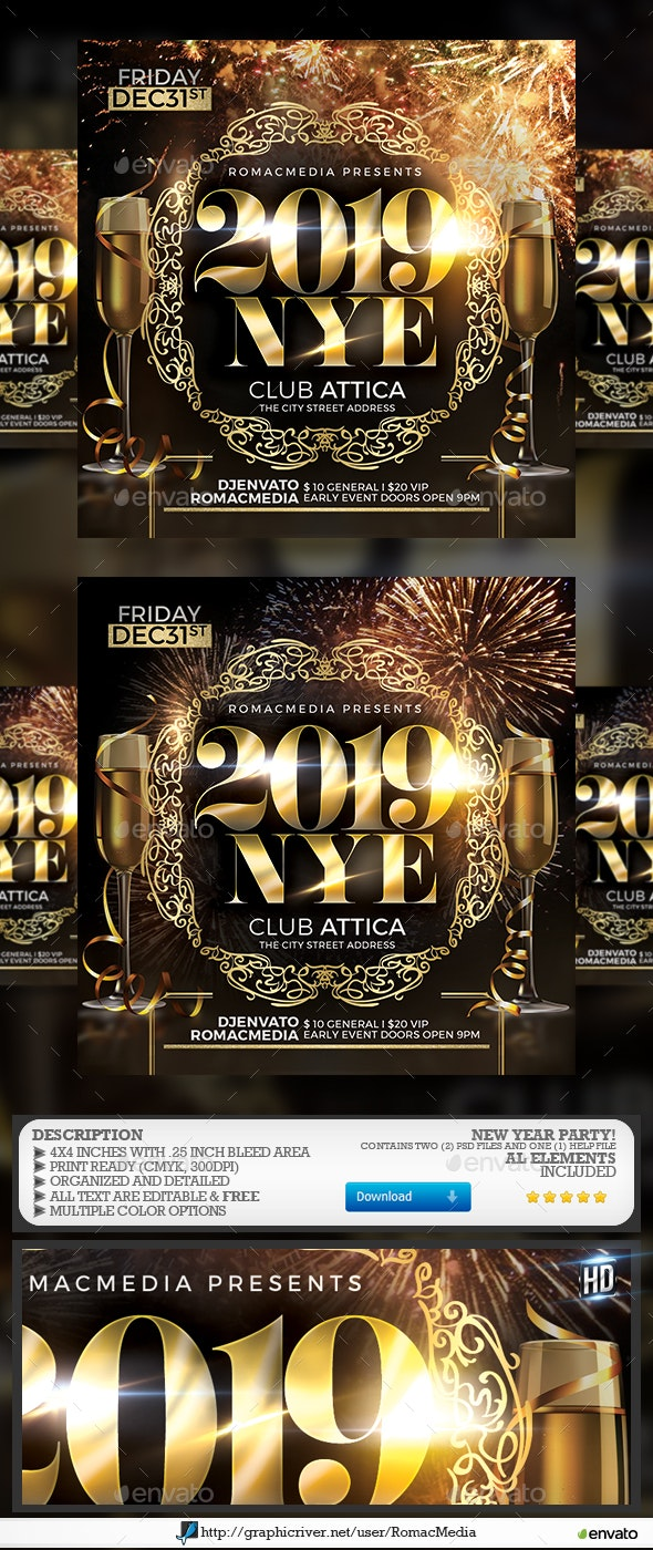 2019 NYE Party - Clubs & Parties Events