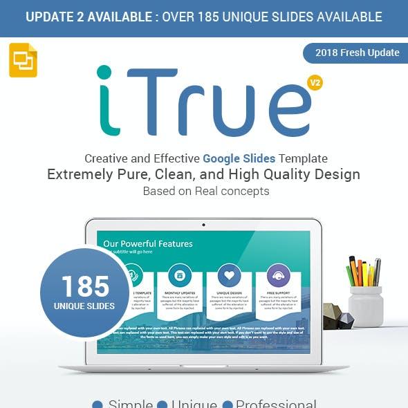 iTrue Powerful Multipurpose Google Slides Template Theme