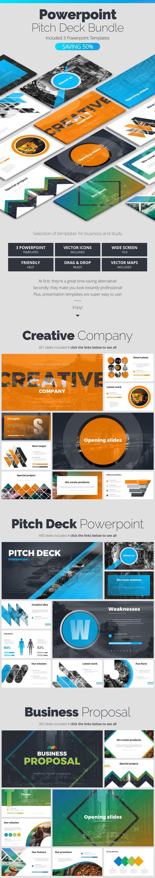 Pitch Deck Bundle - Business PowerPoint Templates