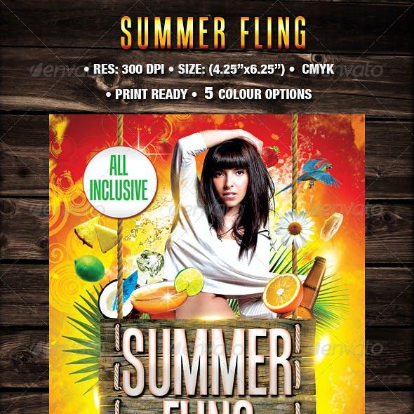 Summer Fling Template