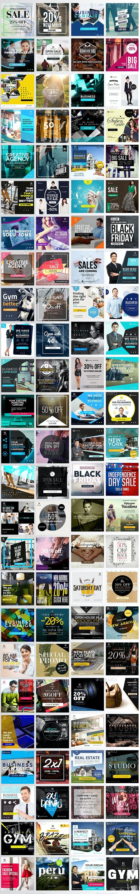 Instagram Banners Promo - Social Media Web Elements