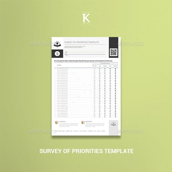 Survey of Priorities Template