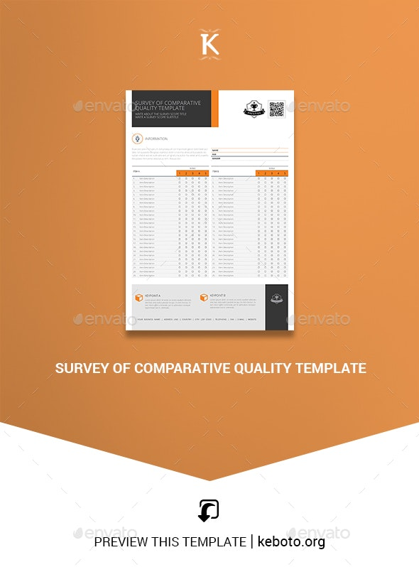 Survey of Comparative Quality Template - Miscellaneous Print Templates