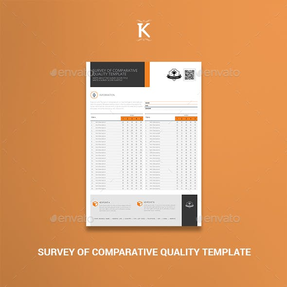 Survey of Comparative Quality Template