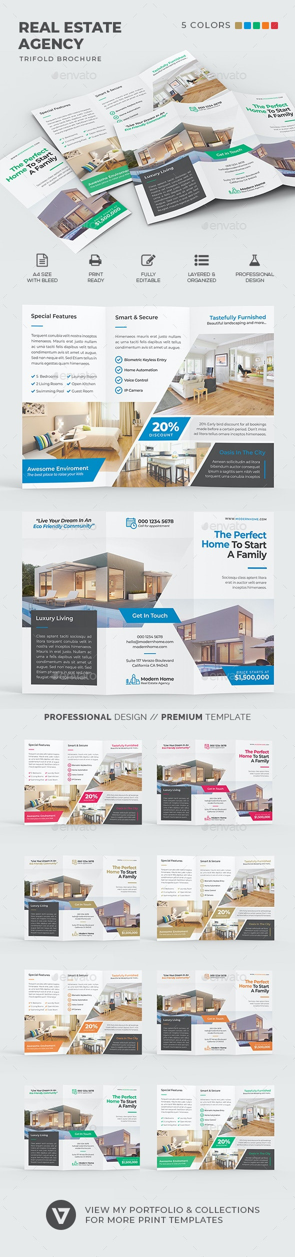 Real Estate Trifold - Corporate Brochures