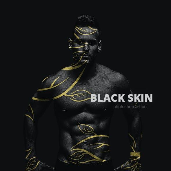Black Skin Photoshop Action