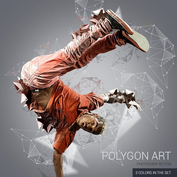 Polygon Art Photoshop Action