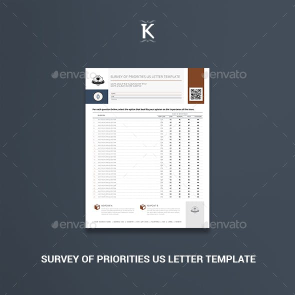 Survey of Priorities US Letter Template