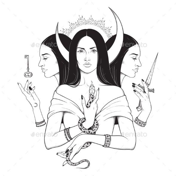Lunar Goddess Hecate