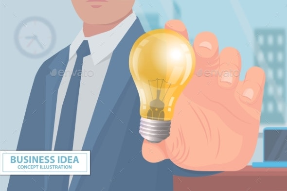 Business Idea Concept Illustration Poster Vector - Concepts Business