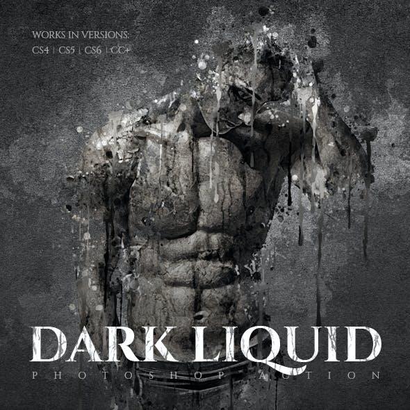 Dark Liquid Photoshop Action