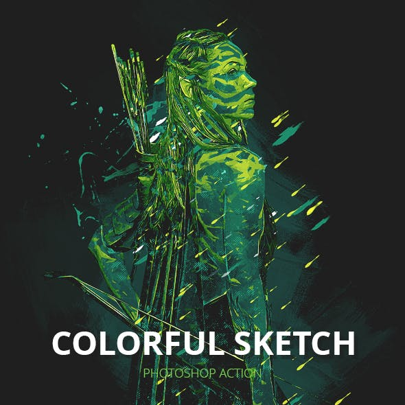 Colorful Sketch Photoshop Action