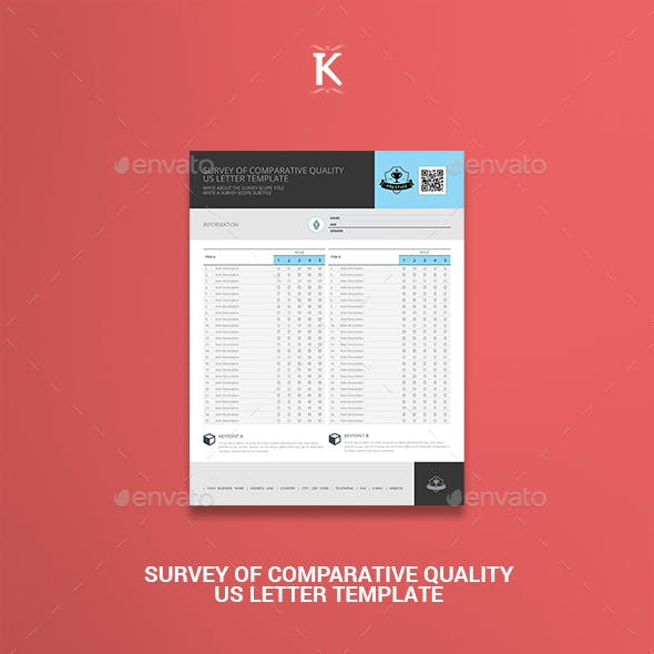 Survey of Comparative Quality US Letter Template