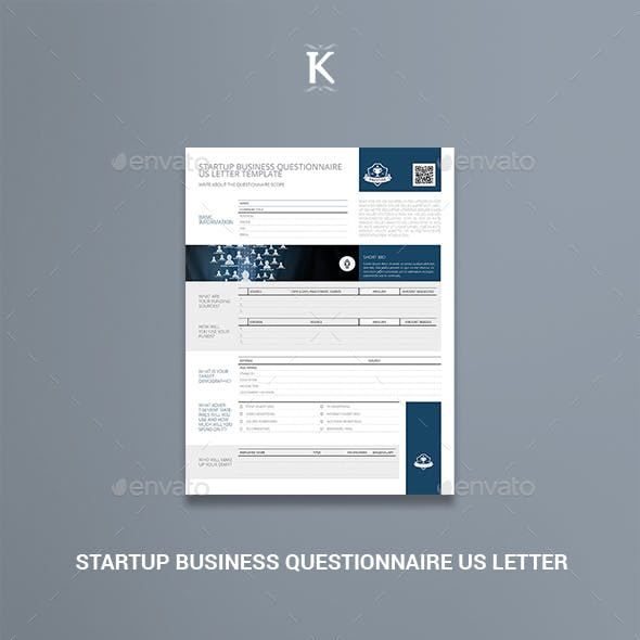 Startup Business Questionnaire US Letter