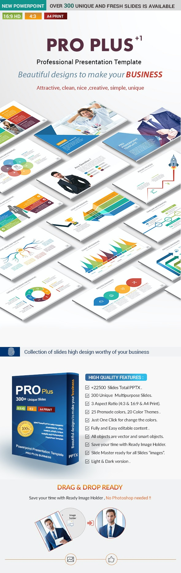 Pro Plus Business PowerPoint Presentation Template - Business PowerPoint Templates