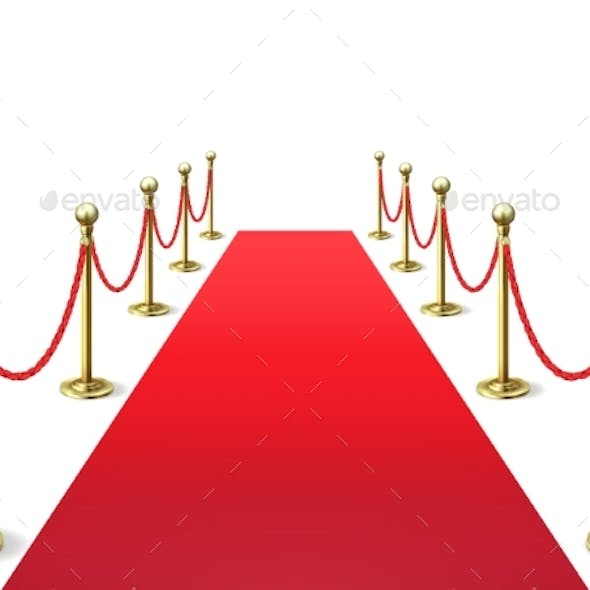 Red Carpet Event Celebrity Carpets with Rope