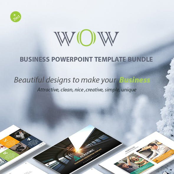 Wow Business PowerPoint Template Bundle