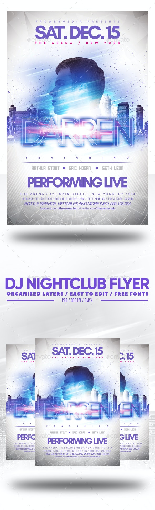 DJ Nightclub Flyer - Clubs & Parties Events