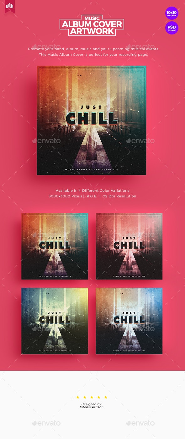 Chill - Music Album Cover Artwork - Social Media Web Elements