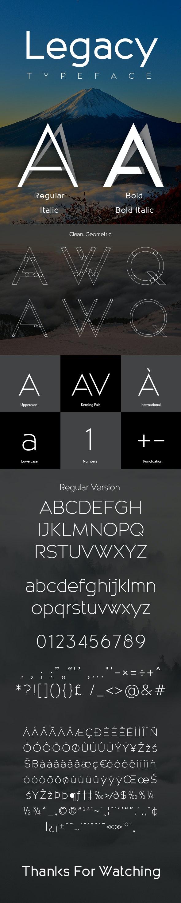 Legacy Typeface - Sans-Serif Fonts