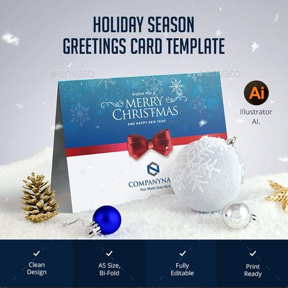 Holiday Season Greetings Card