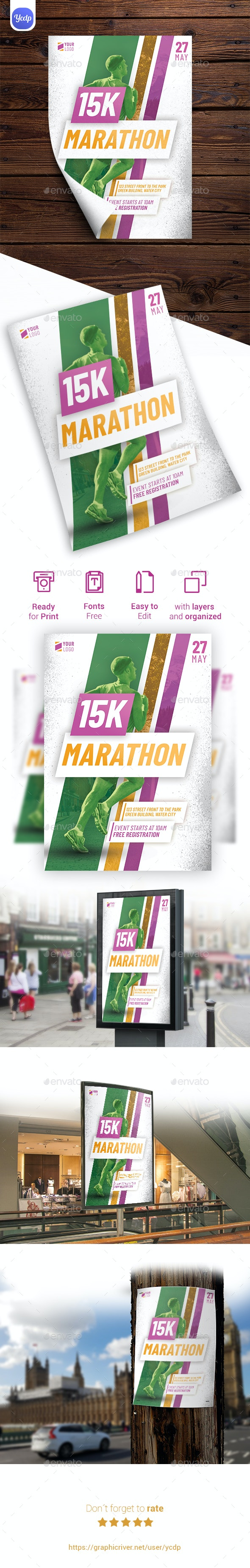 Marathon Event Flyer - Events Flyers
