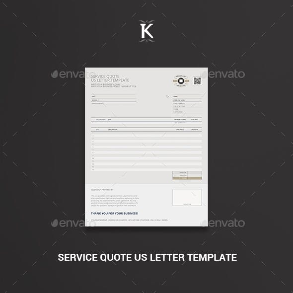 Service Quote US Letter Template