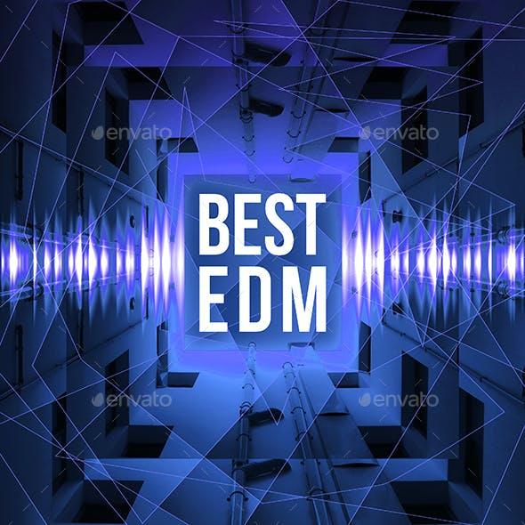 Best EDM Music Album Cover Template