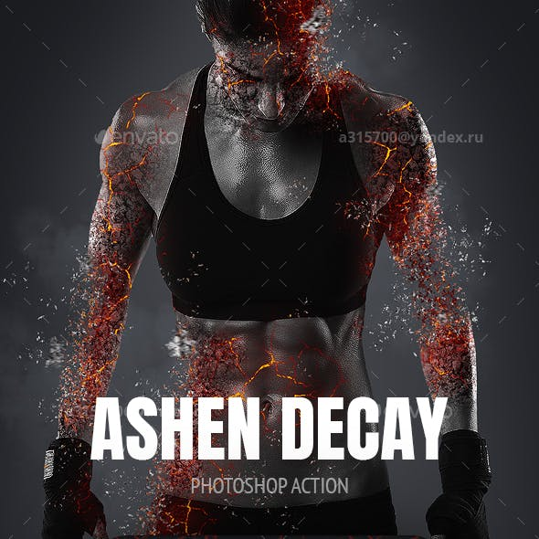 Ashen Decay Photoshop Action