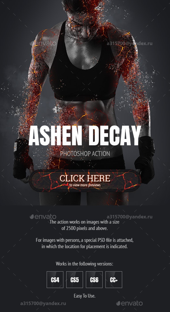 Ashen Decay Photoshop Action - Photo Effects Actions