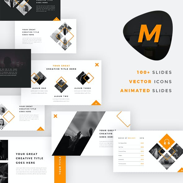 Musical - Music And Band PowerPoint Template