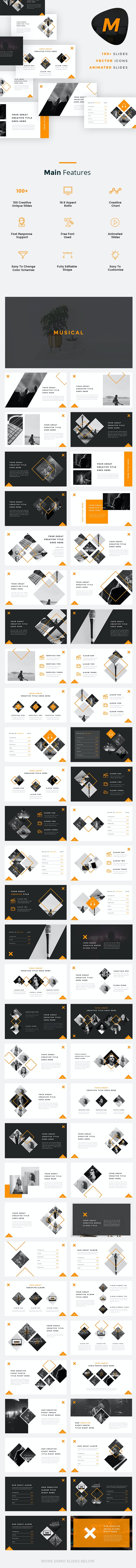 Musical - Music And Band PowerPoint Template - Miscellaneous PowerPoint Templates