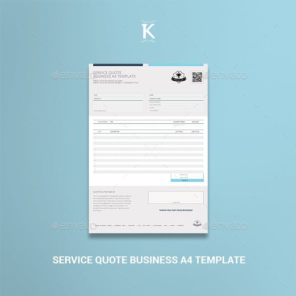 Service Quote Business A4 Template
