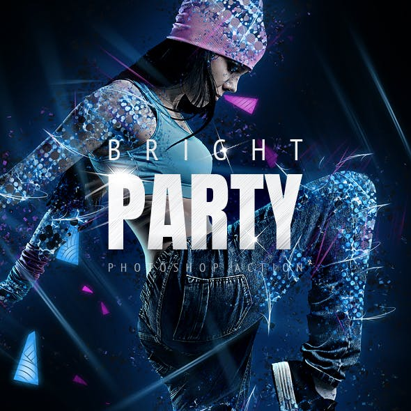 Bright Party Photoshop Action