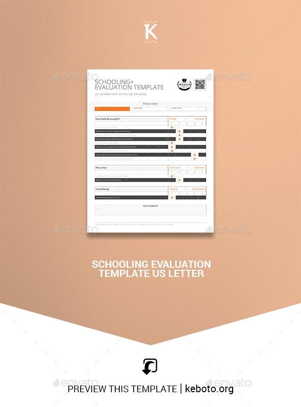 Schooling Evaluation Template US Letter - Corporate Brochures