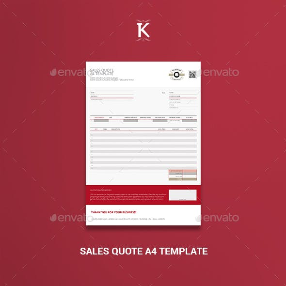 Sales Quote A4 Template