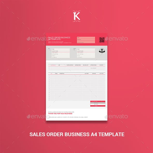 Sales Order Business A4 Template