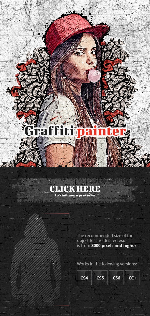 Graffiti Painter Photoshop Action - Photo Effects Actions