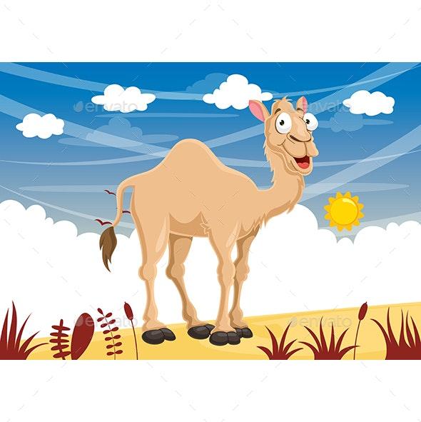 Vector Illustration of Cartoon Camel - Animals Characters