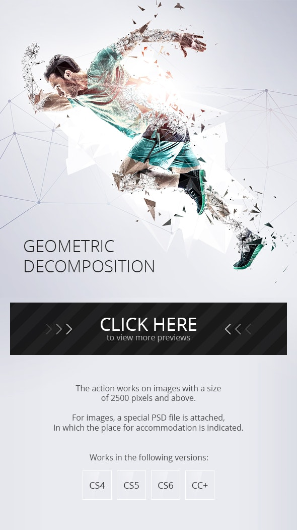 Geometric Decomposition Photoshop Action - Photo Effects Actions