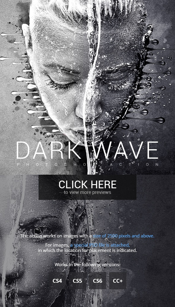 Dark Wave Photoshop Action - Photo Effects Actions