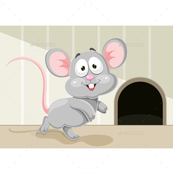 Vector Illustration of Cartoon Mouse - Animals Characters
