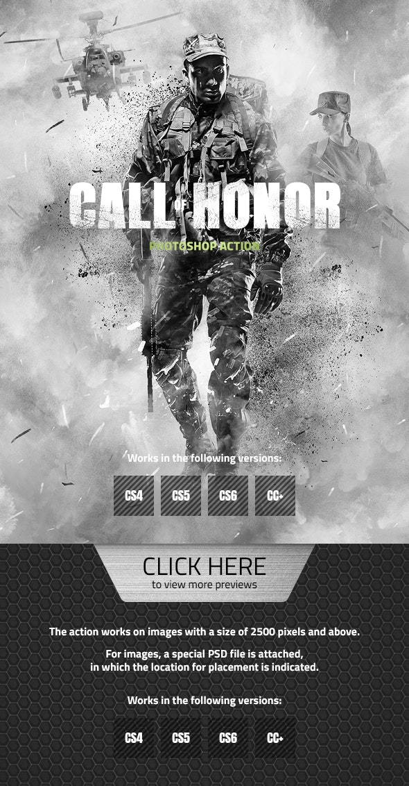 Call of Honor Photoshop Action - Photo Effects Actions