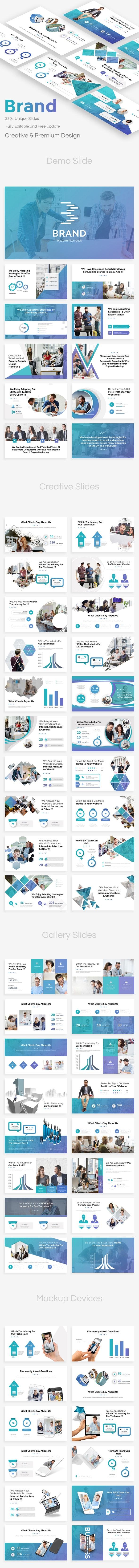 Brand Platform Pitch Deck Keynote Template - Business Keynote Templates
