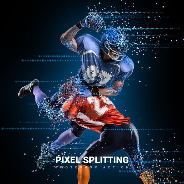 Pixel Splitting Photoshop Action